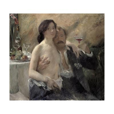 Self Portrait with His Wife and a Sekt Glass, 1902