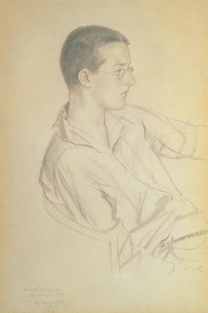 Portrait of Dmitri Dmitrievich Shostakovich (1906-75), 1923