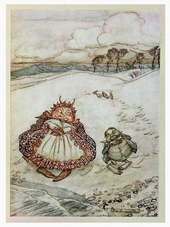 The Crab and His Mother, Illustration from 'Aesop's Fables', Published by Heinemann, 1912