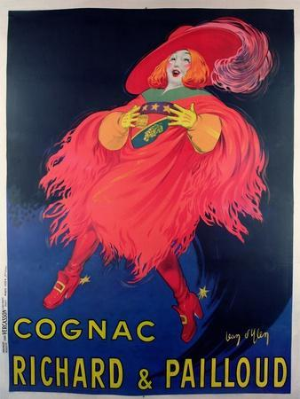 Poster Advertising Cognac Distilled by Richard and Pailloud