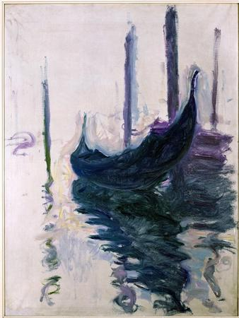 Gondolas in Venice, 1908
