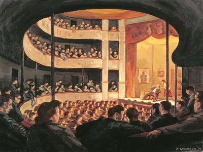 Entertainment at the Garrison Theatre, Bayeux, 1946