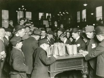 Trading at the Cash Tables Wheat Pit, Chicago, 1931