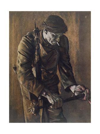 Raider with Cosh, from British Artists at the Front, Continuation of the We