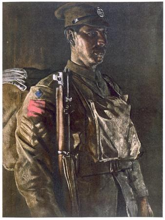 The Rifle Brigade, from British Artists at the Front, Continuation of the Western Front, Part…
