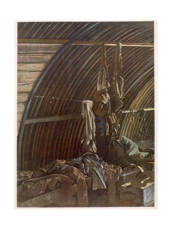 Interior of a Nissen, from British Artists at the Front, Continuation of the Western Front, Part…