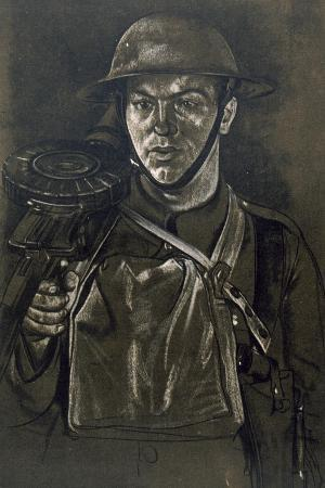 A Lewis Gunner of a Yorkshire Regiment, from British Artists at the Front, Continuation of the…