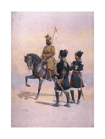 Soldier of the 37th Lancers (Baluch Horse) Baluch, the 36th Jacob's Horse Pathan and the 35th…