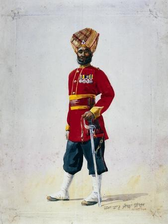 Soldier of the 35th Sikhs, Subadar, Illustration for 'Armies of India' by Major G.F. MacMunn,…