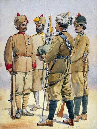 Soldiers of the Frontier Force, Illustration for 'Armies of India' by Major G.F. MacMunn,…