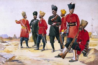 Soldier of the Rajputana Infantry, Illustration from 'Armies of India' by Major G.F. MacMunn,…