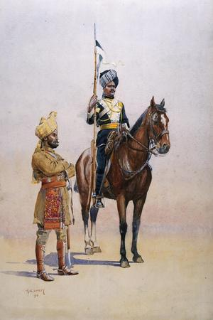 Soldiers of the Mysore Transport Corps, Illustration from 'Armies of India'