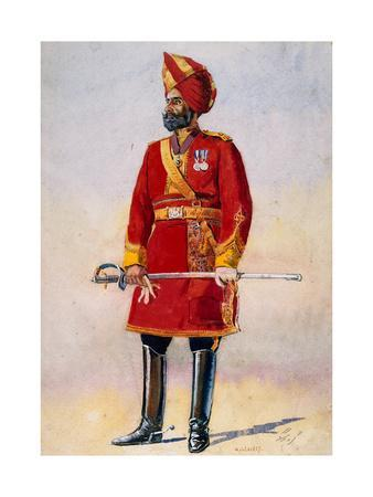 The Commandant of the Bharatpur Infantry, Illustration for 'Armies of India' by Major G.F.…