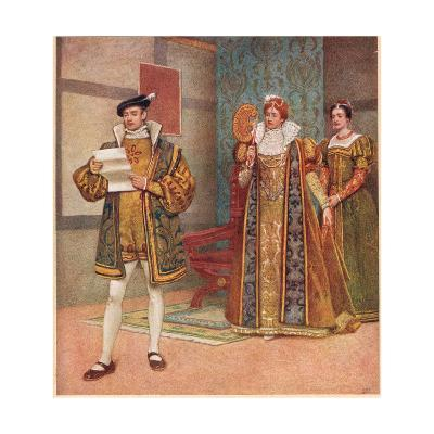 'Their are Some Shrewd Contents in Your Same Paper', Illustration from 'The Merchant of Venice',…