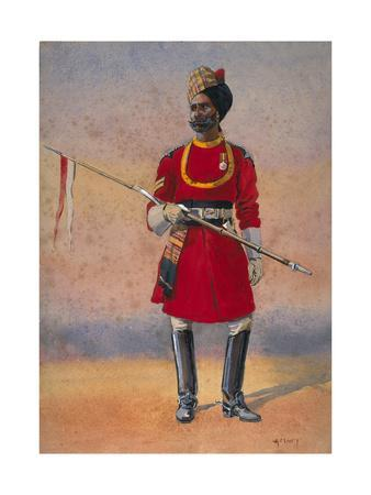 Governor's Bodyguard, Madras, Madrasi Musalman, Illustration for 'Armies of India' by Major G.F.…