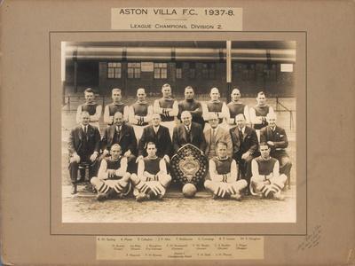 Aston Villa F.C., 1937-38, League Champions, Division 2