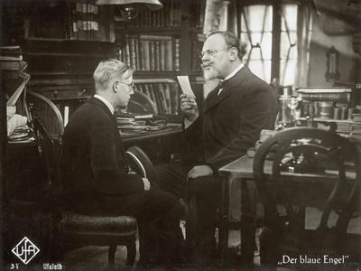 "Still from the Film ""The Blue Angel"" with Emil Jannings and Rolf Mueller, 1930"
