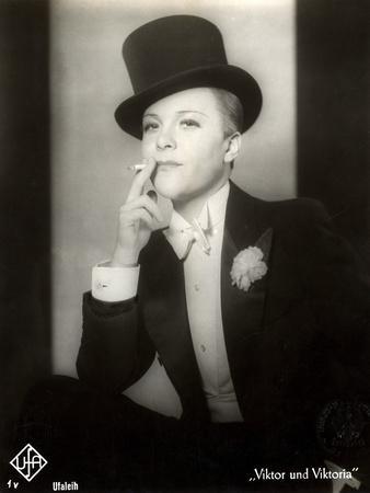 "Portrait of Renate Mueller in the Film ""Viktor and Viktoria"", 1933"