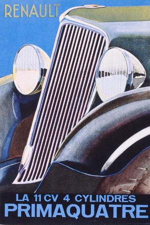 Brochure Advertising the Renault Primaquatre Automobile, c.1930