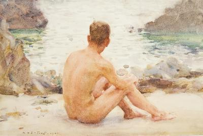 Charlie Seated on the Sand, 1907