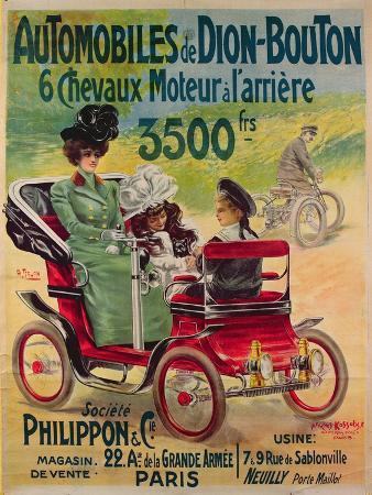 Advertisement for de Dion-Bouton Automobiles, c.1900