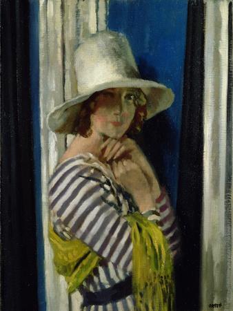 Mrs Hone in a Striped Dress, 1912