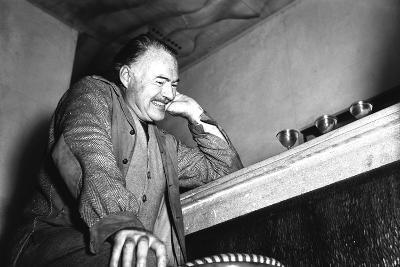 Ernest Hemingway in Stresa, 1948