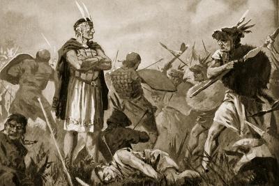 Huscar and Atahualpa Fighting over the Inca Empire