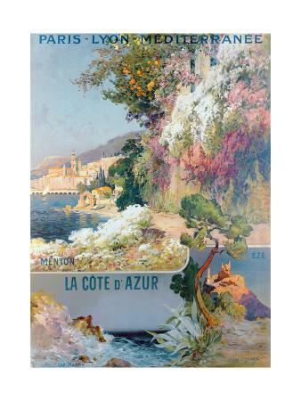 Cote d'Azur and Mediterranean Poster
