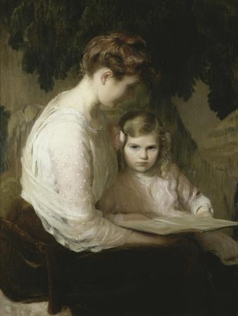 Mother and Child Reading, 1900