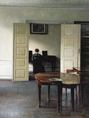 An Interior with a Woman Playing Piano, 1910
