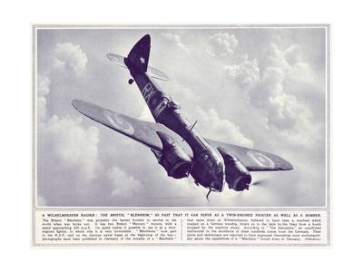 A Bristol 'Blenheim', from 'The Illustrated War News', Published 22nd November 1939