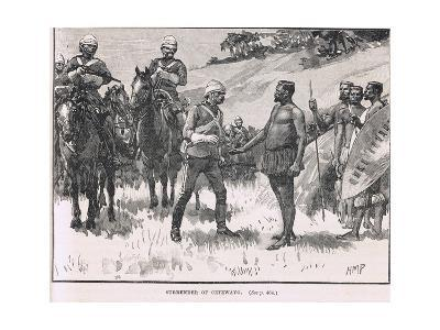 Surrender of Cetewayo, Illustration from Cassell's 'Illustrated History of England', Published…