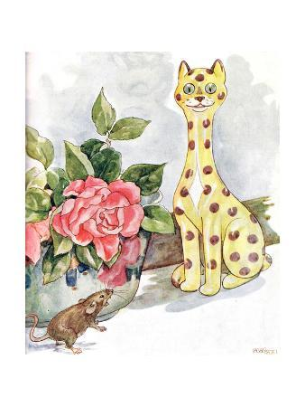 'I Saw a Great Cat All Covered in Spots', Illustration from 'The Mischievious Mousie Book',…
