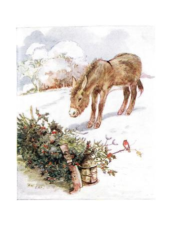 'Very Cold and Ground All White. Can't Find Anything to Eat', Illustration