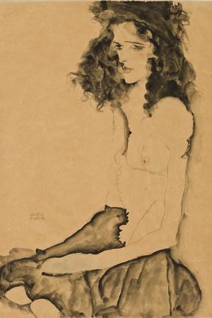 Girl with Black Hair, 1911