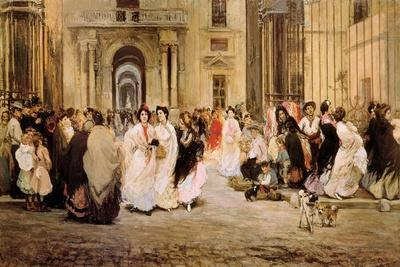 The Cigar Makers Leaving the Tobacco Factory in Seville
