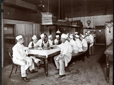 Chefs Eating Lunch at Sherry's Restaurant, New York, 1902