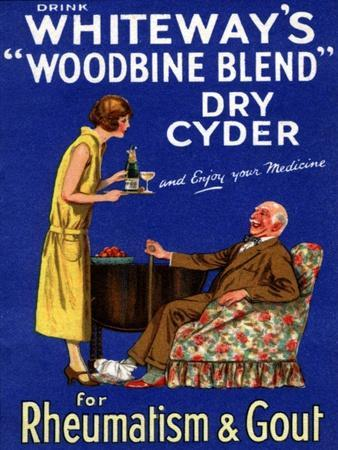 Advertisement for 'Whiteway's 'Woodbine Blend' Dry Cyder', 1920s