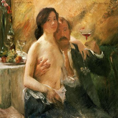 Self Portrait with Nude Woman and Glass, 1902