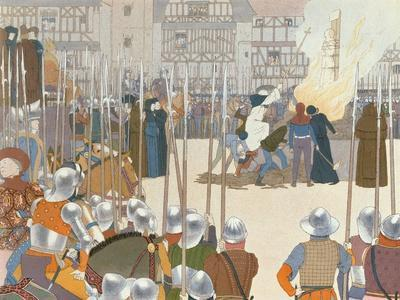 Joan of Arc at the Stake, Illustration from 'Jeanne d'Arc', c.1910