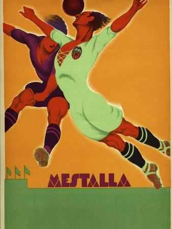 Advertisement for a Match Between Valencia and an English Team at the Mesta
