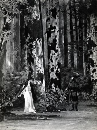 Act I, Scene 1 of 'Pelleas et Melisande' by Debussy, from a Photograph of the First Production in…