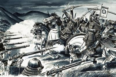 The Battle of Nagashino in 1575