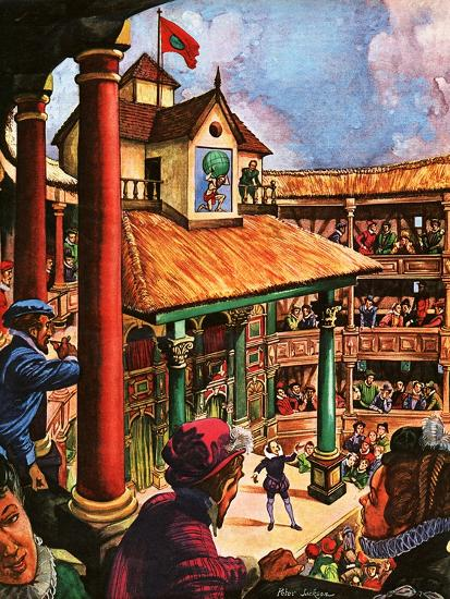Shakespeare Performing At The Globe Theatre Giclee Print