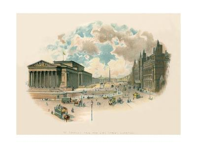 St. George's Hall and Lime Street, Liverpool