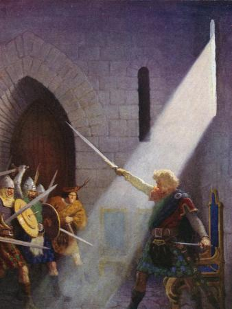 Wallace Draws the King's Sword