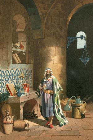 Rhases in His Chemical Laboratory in Baghdad