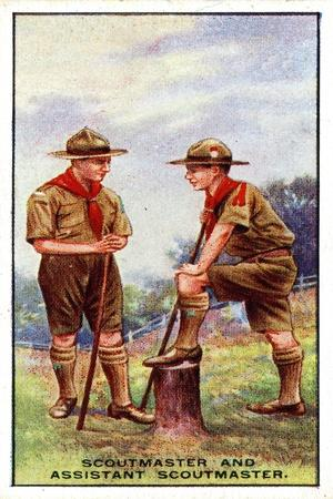 Scoutmaster and Assistant Scoutmaster, 1929