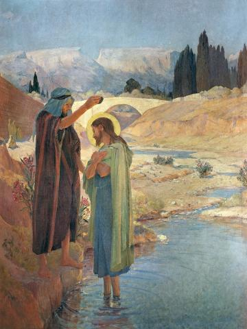 The Baptism of Christ in the Waters of the Jordan, 1917